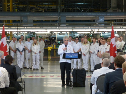 Jerry Chenkin, president and CEO, Honda Canada Inc., announced that Honda of Canada Mfg. (HCM) will  ...