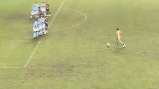 Video of the unidentified streaker (revealed to be Eugenio Derbez) went viral on social media, generating more than 1 million views in 24 hours. (Video: Business Wire)