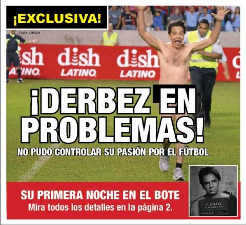 As part of the April Fool's Day joke, DishLATINO wrapped Hispanic newspapers in major U.S. cities with this tabloid-style cover. (Graphic: Business Wire)