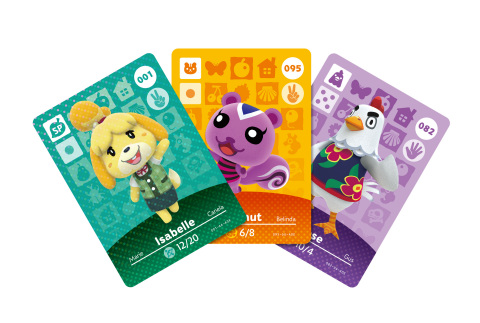 A totally new form of amiibo is coming this fall! The first set of amiibo cards will be based on Animal Crossing characters and will be compatible with the Animal Crossing: Happy Home Designer game. (Photo: Business Wire)
