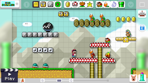 The Mario Maker game launches exclusively for the Wii U console in September and easily lets users create their own Mario levels and share them online with people all over the world. (Photo: Business Wire)