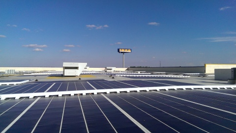IKEA, the world's leading home furnishings retailer, today officially plugged-in an expanded solar energy array atop its Boston-area store that opened nine years ago in Stoughton, MA. (Photo: Business Wire)