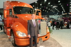 Kurt Swihart, Kenworth Director of Marketing with T680 Kenworth Truck painted in Axalta's Imron® Elite Aurora color (Photo: Business Wire)