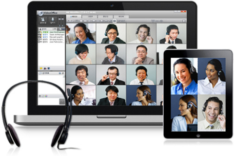 VideoOffice of 4NB provides several video modes in mobile web conferencing. (Photo: Business Wire)