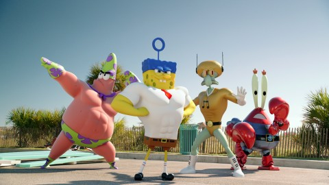 The World's Favorite Sponge Heads To Our World For The First Time Ever In The New Hit Movie SPONGEBOB SQUAREPANTS: SPONGE OUT OF WATER, Coming Ashore On Digital HD May 19 and Blu-ray™ Combo Pack June 2 (Photo: Business Wire)