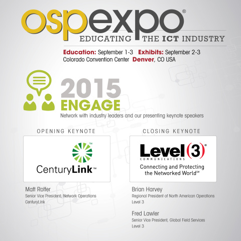Engage At OSP EXPO 2015 (Graphic: Business Wire)