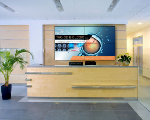 Planar RA-Series LCD VideoWall - Corporate Lobby (Photo: Business Wire)