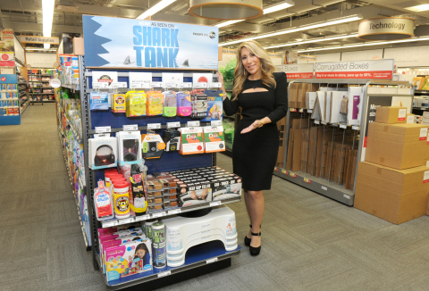 Shark Tank's Lori Greiner joins Staples to announce that Shark Tank products created by entrepreneurs featured on the show are now available in stores and on Staples.com, Tuesday, April 7, 2015, in New York.  (Photo by Diane Bondareff/Invision for Staples/AP Images)