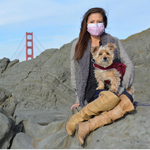 Caleigh Haber of San Francisco relies on breathing equipment and breathing exercises to keep her alive as she waits for a lung transplant. She also wears a mask for protection from germs. (Photo: Business Wire)