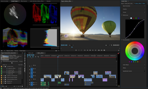 Introducing the new Color workspace, including the Lumetri Color panel, in Premiere Pro CC that combines the power of SpeedGrade with the accessibility of Lightroom making creative color tools available to video editors. (Graphic: Business Wire)