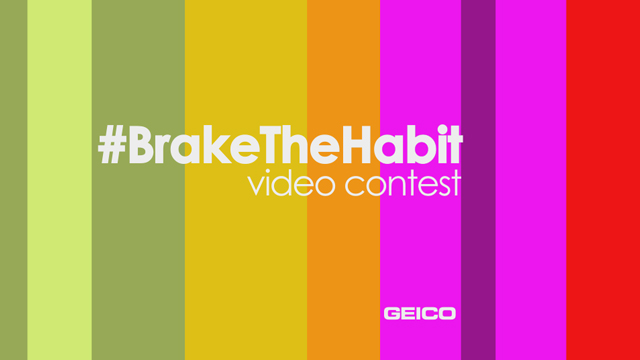 Tell us why you don't drive distracted! Enter a video on Twitter with the hashtag #BrakeTheHabit and mention @GEICO for a chance to win! To learn more, visit www.on.gei.co/BrakeTheHabit.