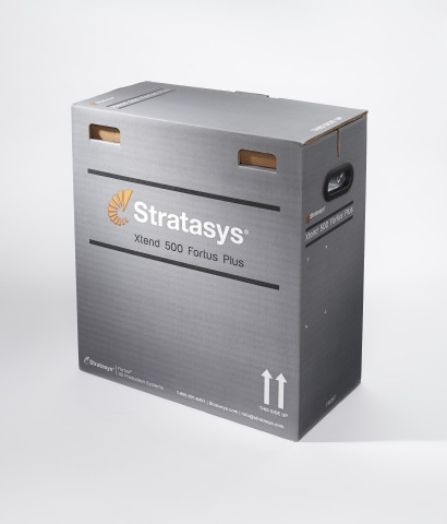 Xtend 500 Fortus Plus is a new high-volume material box for Fortus 3D Production Systems, offering five times the output of standard canisters. (Photo: Stratasys)