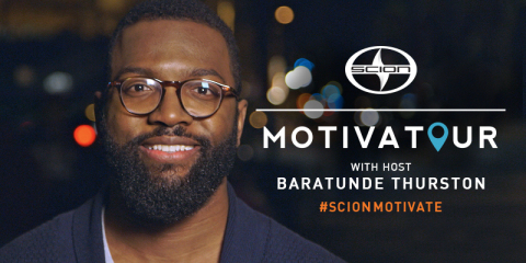 Entrepreneurs pitched their business ideas to celebrity mentors in a Scion xB during Scion's Motivatour Program. (Photo: Business Wire)