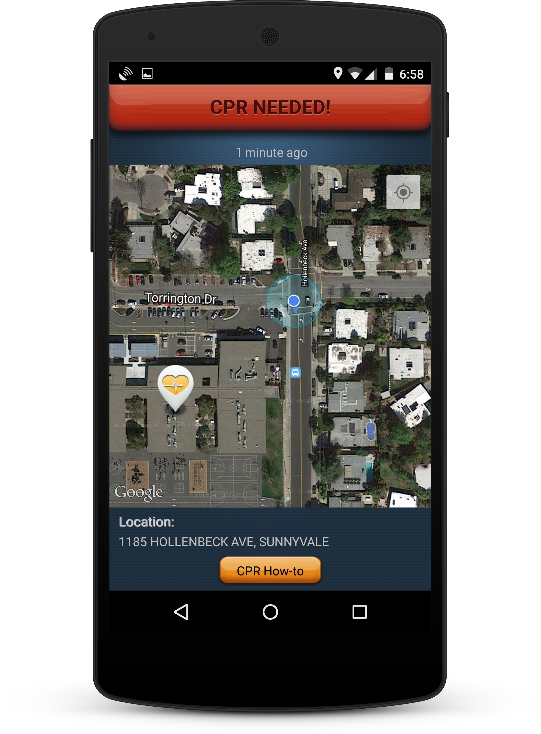 PulsePoint app w/device border (Photo: Business Wire)