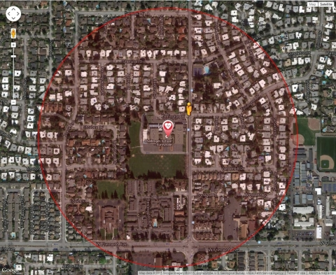 PulsePoint activation map (Photo: Business Wire)