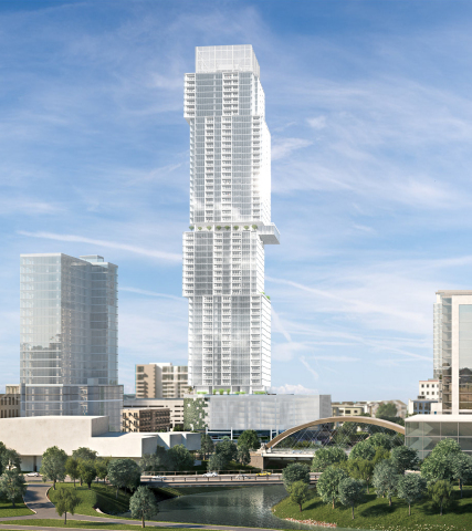 The Independent tower rendering, in Austin, TX. (Rendering credit: Rhode:Partners | Neezo)