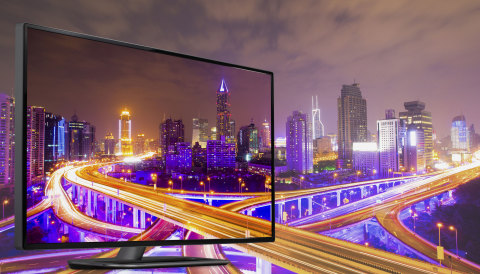With Dolby Vision, this cityscape explodes with electric color. (Graphic: Business Wire)