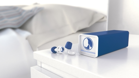 Hush Technology will use a service grant from Proto Labs' Cool Idea! Award to help develop its smart earplug system. A first of its kind, the product combines sound-eliminating foam and noise masking technology to keep unwanted noise out while allowing important alerts in. (Photo: Business Wire)