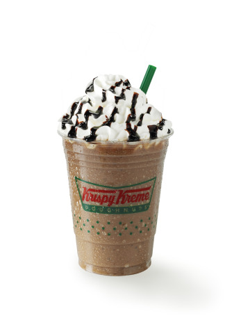 Krispy Kreme Frozen Mocha, Frozen Vanilla Latte and Frozen Caramel Latte are made fresh to order at