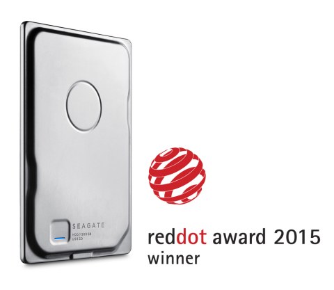 Seagate Seven Portable drive has been awarded for Product Design by Red Dot (Graphic: Business Wire)