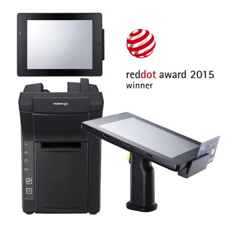 獲得紅點設計獎的行動POS: Posiflex MT-4008W是一台配備可拆式握把的8吋平板電腦,支援磁卡讀卡器和條碼掃描器。MT-4008W與底座結合,立即成為一台多功能POS系統(照片:美國商業資訊)