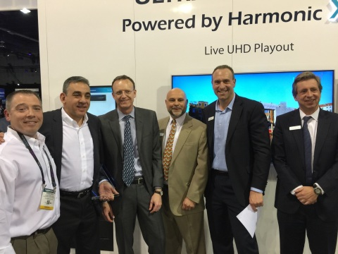 Chris Payne, Strategic Account Manager, T2 Computing Inc., Jerry Gepner, CEO of Tekserve Corporation and its subsidiary, T2 Computing, Inc., Patrick Harshmann President & Chief Executive Officer, Harmonic, Douglas Triblehorn, Senior Director North America Sales, Harmonic, Spencer Hodson VP & Channel Strategy Operations and Enablement, Harmonic and George Stromeyer, Senior Vice President Worldwide Sales, Harmonic (Photo: Business Wire)
