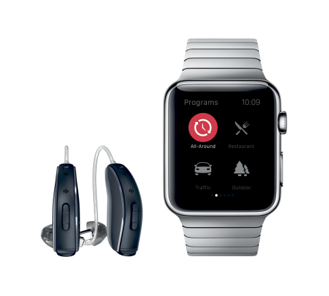 ReSound LiNX2 and Apple Watch (Photo: Business Wire)