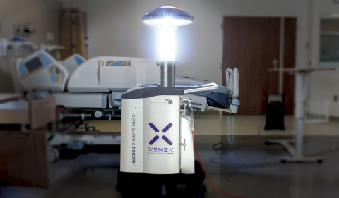 Clece has chosen Xenex Germ-Zapping Robots for room disinfection at hospitals in Spain and Portugal. The robot destroys C.diff spores and other dangerous microorganisms that can cause healthcare associated infections in less than five minutes. (Photo: Business Wire)