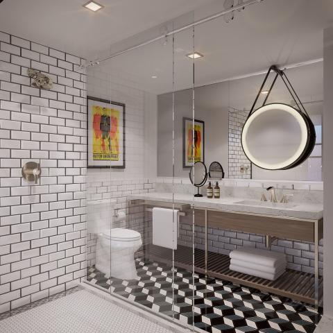 Starwood Hotels & Resorts - Tribute Portfolio - Nashville - Guest Bathroom - Rendering (Photo: Business Wire)
