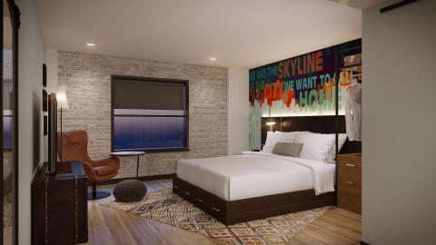 Starwood Hotels & Resorts - Tribute Portfolio - Nashville - Guest Bedroom - Rendering (Photo: Business Wire)