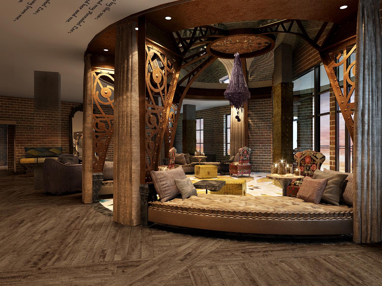 Starwood Hotels Resorts Tribute Portfolio Savannah Lobby Rotunda Rendering Photo