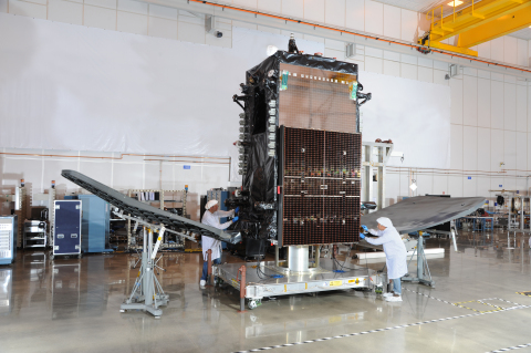 SKYM-1 in Orbital ATK's Dulles, Virginia satellite manufacturing facility. (Photo: Business Wire)