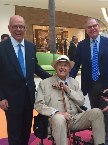 Taubman Centers, Inc. founder A. Alfred Taubman joined his sons Robert and William on March 26, 2015 ...