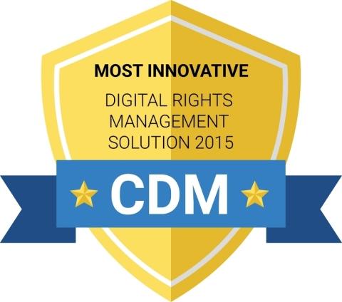 Noms Cyber Defense magazine Inside DRM Fusion sécurisé comme le plus innovant dans la solution de gestion des droits numériques  (Graphic: Business Wire)