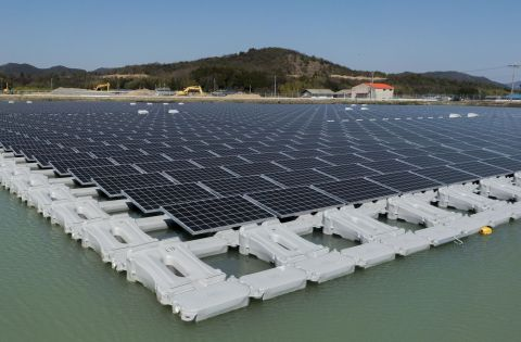 1.7MW floating solar power plant at Nishihira Pond (Photo: Business Wire)