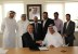 Ron Peri, Ghaith Al Ghaith and the flydubai and Radixx teams in Dubai. (Photo: Business Wire)