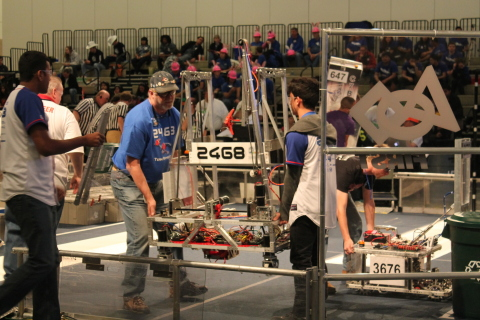 "Global distributor Mouser Electronics is sponsoring the 2015 FIRST Championships this week April 22-25 at the Edward Jones Dome in St. Louis, MO. The robotics competition provides high school students with ""real-world engineering"" experience. Students and engineers can visit Mouser's website to learn more: www.mouser.com/first. (Photo: Business Wire)"