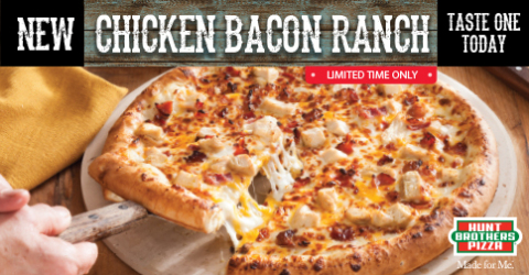 Hunt Brothers Pizza's new limited time offer, Chicken Bacon Ranch Pizza (Photo: Business Wire)