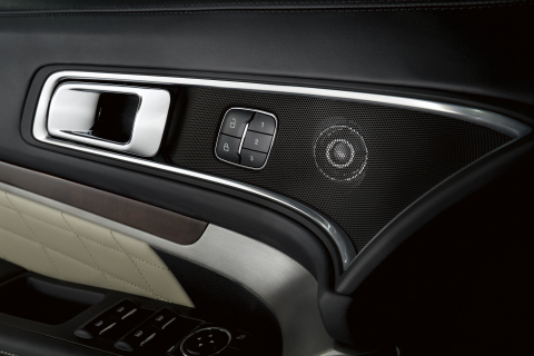 Ford Explorer Platinum's premium Sony(R) audio system includes two industry-first features previously offered only in high-end home audio systems - Live Acoustics(TM) and Clear Phase(TM) technologies (Photo: Business Wire)