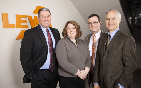 Lewa Process Technology new management team: L to R: Mark Dyment, Tiffany Hearn, Gerard Gach, Greg Collins (Photo: Business Wire)
