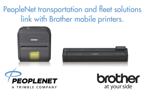 Brother Mobile's line of rugged mobile printers interface seamlessly with PeopleNet onboard software systems and the newest in-cab PCs including PeopleNet TABLET(R), Display.4 and Blu2 (Graphic: Business Wire)
