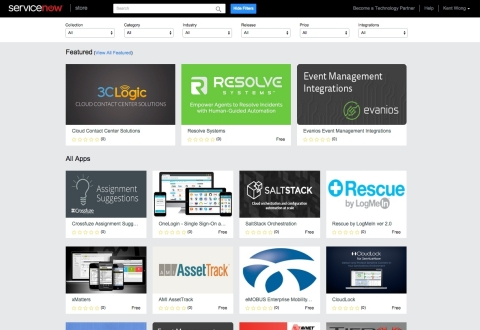 ServiceNow Store is a vibrant and innovative enterprise application marketplace with a wide choice of solutions that will help customers consumerize their employees' service experiences, automate workflows across departments, integrate IT operations and more. At launch, the store has more than 80 applications and integrations available. (Graphic: Business Wire)