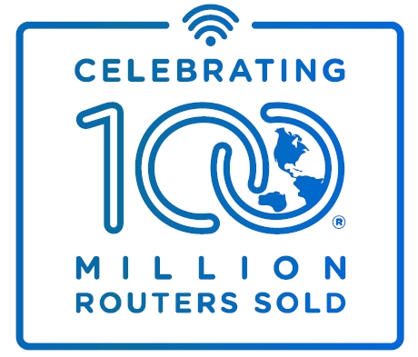 Linksys celebrates selling 100 Million Routers Globally (Graphic: Business Wire)