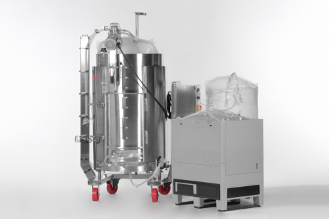 The Thermo Scientific HyPerforma Single-Use Mixers (SUM) combine the benefits of its widely used SUMs with advancements that address the requirements of single-use bioprocessors from scale-up to cGMP manufacturing. (Photo: Business Wire)
