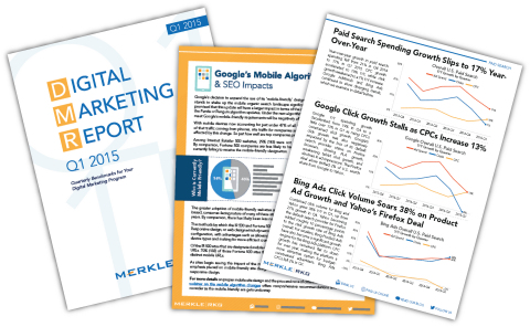 Merkle | RKG Releases Its Q1 Digital Marketing Report. (Graphic: Business Wire)