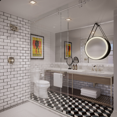 Starwood Hotels & Resorts - Tribute Portfolio - Nashville - Guest Bathroom - Rendering (Photo: Business Wire)