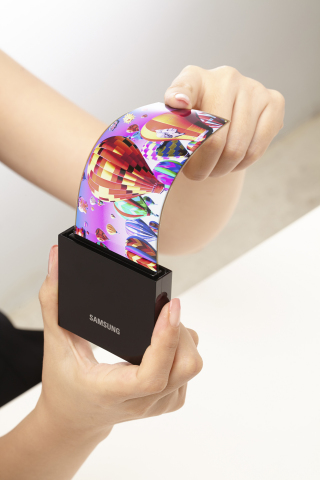 Flexible AMOLED Display - Samsung Display (Photo: Business Wire)