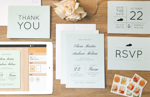 Makr users can make branded invitations, stickers and labels, packaging materials and stationery.(Graphic: Business Wire)