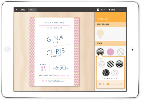 Consumers have the ability to design and print materials for special events and everyday occasions, like wedding invitations. (Graphic: Business Wire)