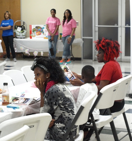 New and expectant moms attended the Community Baby Shower hosted by UnitedHealthcare Community Plan of Mississippi at Jackson Medical Mall in Jackson, Miss. Attendees were able to meet with health experts and get answers to many of their questions about their pregnancy and received tips for taking care of their babies, including information on prenatal and postpartum care and child-care safety. They also received information about UnitedHealthcare's Healthy First Steps case management program and BabyBlocks, a free online wellness-incentive program. (Photo Credit: Jimmy Winstead)